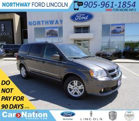 Used 2016 Dodge Grand Caravan Crew | NAV | PWR HTD LEATHER | STOW N GO | for sale in Brantford, ON