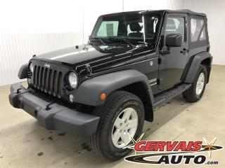 Used 2017 Jeep Wrangler Sport 4x4 Mags for sale in Trois-Rivières, QC