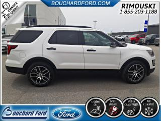Used 2017 Ford Explorer SPORT 4X4 GPS CAMERA SIEGES ARRIERES ELE for sale in Rimouski, QC