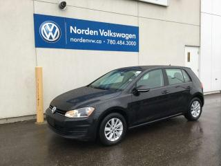 Used 2017 Volkswagen Golf TRENDLINE 5 DR AUTO - VW CERTIFIED / HEATED SEATS / BLUETOOTH for sale in Edmonton, AB