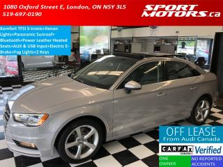 Used 2015 Audi A3 1.8T TFSI S-tronic+Heated Seats+PANO Roof+Xenons for sale in London, ON
