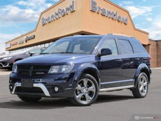 Used 2017 Dodge Journey Crossroad  - Leather Seats - $178.04 B/W for sale in Brantford, ON