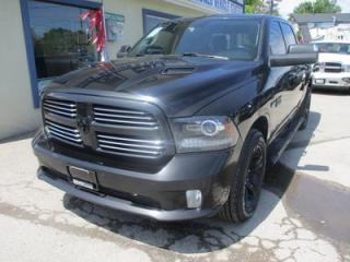 Used 2017 Dodge Ram 1500 LOADED SPORT EDITION 5 PASSENGER 5.7L - HEMI.. 4X4.. CREW.. SHORTY.. NAVIGATION.. LEATHER.. HEATED/AC SEATS.. BACK-UP CAMERA.. POWER FOLDING MIRRORS.. for sale in Bradford, ON