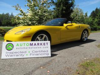 Used 2006 Chevrolet Corvette LS2, NAVI, BLUETOOTH, INSP, BCAA MBSHP,WARR for sale in Surrey, BC