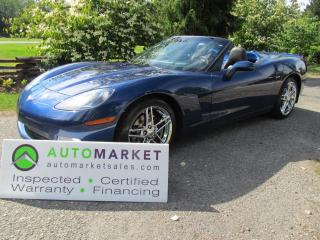 Used 2005 Chevrolet Corvette NAVI, AUTO, INSP, BCAA MBSHP, WARRANTY for sale in Surrey, BC