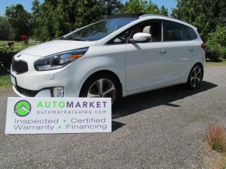 Used 2014 Kia Rondo EX-LUX, NAVI, BIG ROOF, 7 PASS LEATHER, INSP, WARR, BCAA, FINANCE for sale in Surrey, BC