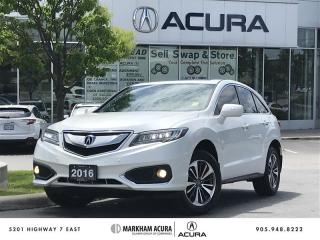 Used 2016 Acura RDX Elite at AWD, Vented Seats, Park Sensors for sale in Markham, ON