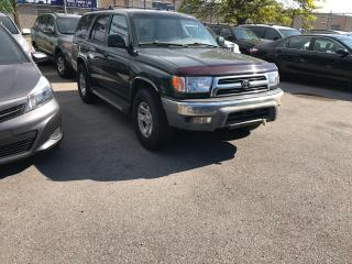 Used 2000 Toyota 4Runner SHIPPERS SPECIAL,178KM,SR5,AWD,AUTO,COLD A/C,$2988 for sale in Toronto, ON