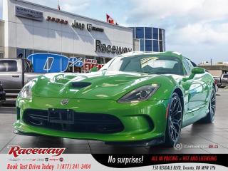 Used 2014 Dodge Viper GTS - Nav, 8.4 Media Screen, Back Up Cam for sale in Etobicoke, ON