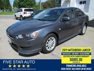 Used 2011 Mitsubishi Lancer SE *Clean Carproof + 1 Ownr* Certified w/ Warranty for sale in Brantford, ON
