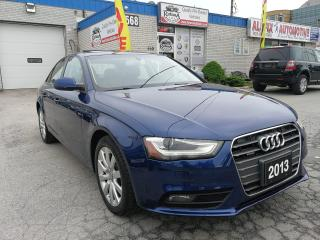 Used 2013 Audi A4 Ontario Vehicle | AWD | Sunroof | Leather for sale in Oakville, ON