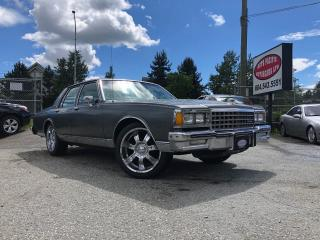 Used 1985 Chevrolet Caprice Classic Custom for sale in Surrey, BC