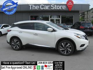 Used 2016 Nissan Murano AWD Platinum DVD htd/cool seat LEATHER navi local for sale in Winnipeg, MB
