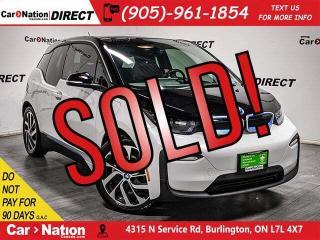Used 2018 BMW i3 w/Range Extender| NAVI| FULLY ELECTRIC| for sale in Burlington, ON