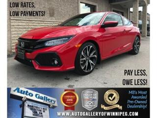 Used 2017 Honda Civic COUPE Si *6Spd/Navi/Bluetooth for sale in Winnipeg, MB