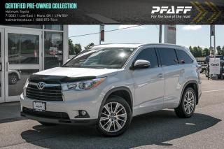 Used 2016 Toyota Highlander XLE AWD for sale in Orangeville, ON