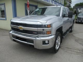 Used 2015 Chevrolet Silverado 2500 LOADED LT EDITION 6 PASSENGER 6.0L - V8.. 4X4.. CREW.. SHORTY.. LEATHER.. HEATED SEATS.. BACK-UP CAMERA.. BLUETOOTH.. for sale in Bradford, ON