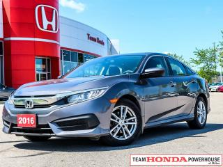 Used 2016 Honda Civic LX-*NO ACCIDENTS|1 OWNER|APPLE CARPLAY/ANDROID AUTO|ALLOY WHEELS* for sale in Milton, ON