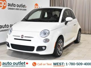 Used 2015 Fiat 500 Sport, fwd, hatchback, sport mode, leather & cloth inserted seats for sale in Edmonton, AB