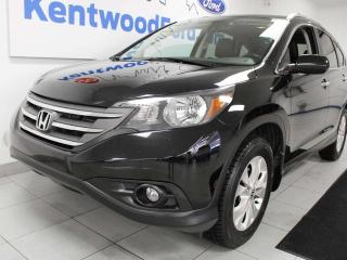 Used 2014 Honda CR-V Touring AWD with NAV, sunroof, heated power leather seats, back up cam for sale in Edmonton, AB