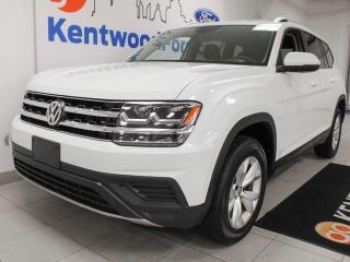 Used 2018 Volkswagen Atlas Trendline AWD V6 4 Motion with heated seats, back up cam and rear climate control for sale in Edmonton, AB