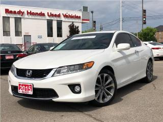 Used 2015 Honda Accord Coupe EX-L V6 w/Navi - Leather - Sunroof - Lane Watch for sale in Mississauga, ON