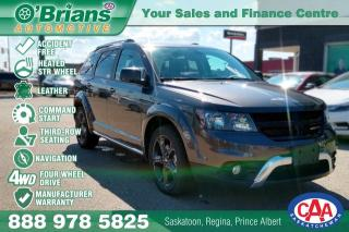 Used 2018 Dodge Journey Crossroad w/Mfg Warranty, AWD, 3rd Row, Nav, Leather for sale in Saskatoon, SK
