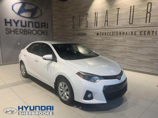 Used 2015 Toyota Corolla S+CAMERA+BANCS CHAUFF+BLUETOOTH for sale in Sherbrooke, QC
