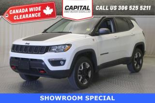 Used 2018 Jeep Compass Trailhawk- PANORAMIC SUNROOF*LEATHER*NAV* for sale in Regina, SK