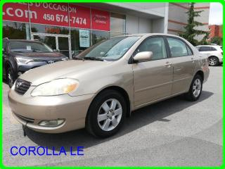 Used 2006 Toyota Corolla BAS MILLAGE for sale in Longueuil, QC