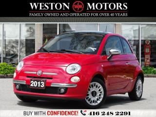 Used 2013 Fiat 500 L*LEATHER*SUNROOF*5 SPEED*RED INTERIOR*SPORT* for sale in Toronto, ON