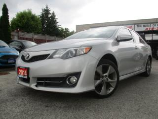 Used 2014 Toyota Camry SE-NAVIGATION-LEATHER-SUN-ROOF-CAMERA-HEATED-ALLOY for sale in Scarborough, ON