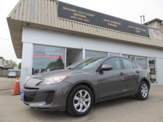 Used 2013 Mazda MAZDA3 Manual transmission,clean carfax,certified for sale in Mississauga, ON
