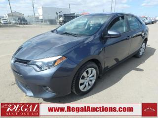 Used 2016 Toyota Corolla LE 4D Sedan AT 1.8L for sale in Calgary, AB
