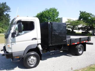 Used 2007 Mitsubishi FUSO FG84D Flat Deck Service box  8.8 foot deck space Diesel 4x4 for sale in Burnaby, BC