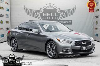 Used 2015 Infiniti Q50 Sport, NAVI, BACK-UP CAM, SUNROOF, LEATHER, BLUETOOTH for sale in Toronto, ON
