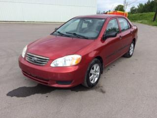 Used 2003 Toyota Corolla 4DR SDN CE AUTO for sale in Quebec, QC