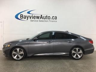 Used 2018 Honda Accord Touring 2.0T - TURBO! HTD LEATHER! NAV! SUNROOF! LOADED! for sale in Belleville, ON