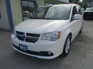 Used 2013 Dodge Grand Caravan FAMILY MOVING CREW EDITION 7 PASSENGER 3.6L - V6.. CAPTAINS.. STOW-N-GO.. ECON-BOOST.. POWER PEDALS.. POWER WINDOWS.. BACK-UP CAMERA.. for sale in Bradford, ON