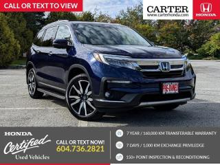 Used 2019 Honda Pilot Touring LEATHER INTERIOR + HEATED & VENTILATED SEATS + POWER LIFTGATE + NAVIGATION! for sale in Vancouver, BC