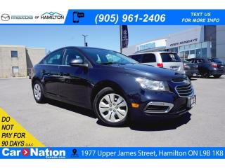 Used 2015 Chevrolet Cruze LT 1LT | REAR CAM | SAT RADIO | BLUETOOTH for sale in Hamilton, ON