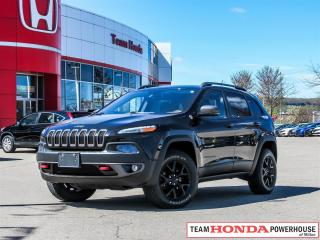 Used 2015 Jeep Cherokee Trailhawk-*NO ACCIDENTS|1 OWNER|NAVI|LEATHER* for sale in Milton, ON