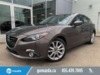 Used 2014 Mazda MAZDA3 GT SPORT LEATHER SUNROOF NAV AWESOME VALUE for sale in Edmonton, AB