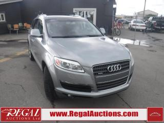Used 2008 Audi Q7 Premium 4D Utility 4WD for sale in Calgary, AB