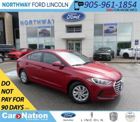 Used 2017 Hyundai Elantra LE | HTD SEATS | BLUETOOTH | USB/AUX | for sale in Brantford, ON