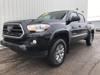 Used 2019 Toyota Tacoma SR5 V6 4X4 DOUBLE CAB SMALL PICK UP WITH FACTORY WARRANTY + BACKUP CAMERA! for sale in Charlottetown, PE
