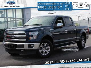 Used 2017 Ford F-150 LARIAT 4X4*CUIR*TOIT*GPS*CAMERA*BLUETOOTH*A/C** for sale in Victoriaville, QC