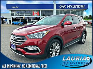 Used 2017 Hyundai Santa Fe Sport 2.0T AWD Ultimate - TOTALLY LOADED - LOW KMS for sale in Port Hope, ON