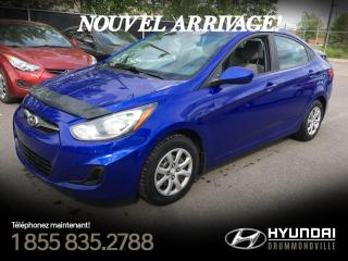 Used 2012 Hyundai Accent GL + CRUISE + GARANTIE + A/C + for sale in Drummondville, QC