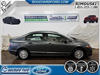Used 2009 Honda Civic 4 portes, boîte automatique, DX-G for sale in Rimouski, QC